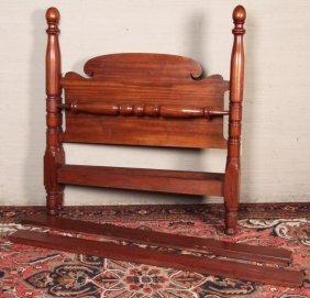 American Mahogany Turned Bed