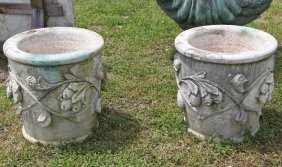 Pair Of Architectural Italian Stone Planters
