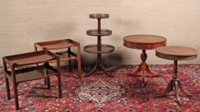 Group Of 5 Miscellaneous Mahogany Occassional Tables
