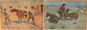 Pair Of Framed Prints After Frederic Remington