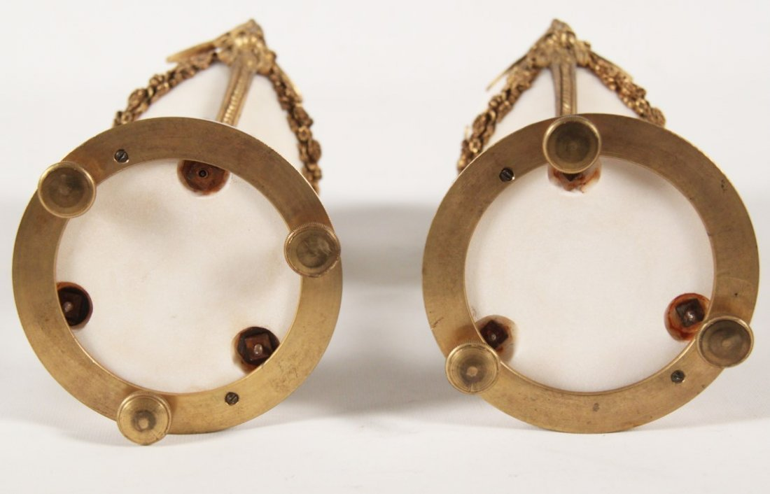 PAIR OF FRENCH REGENCY DORE BRONZE AND MARBLE COUPS - 4