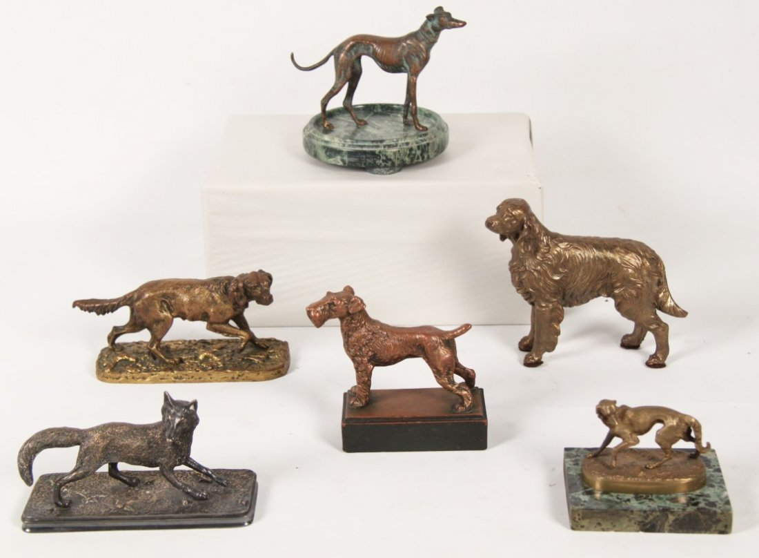 COLLECTION OF 6 ANIMALIER BRONZES INCLUDING P.J. MENE