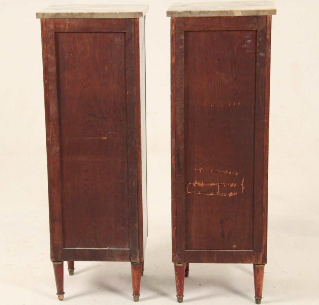 PAIR OF LOUIS XV MARQUETRY AND BRONZE MOUNTED COMMODES - 4