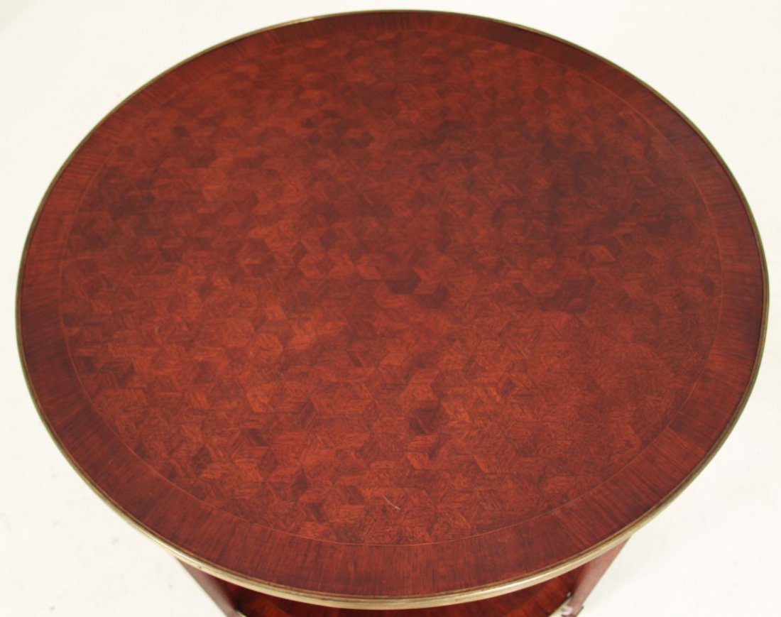 LOUIS XV STYLE BRONZE MOUNTED MARQUETRY BOUILLOTTE - 2