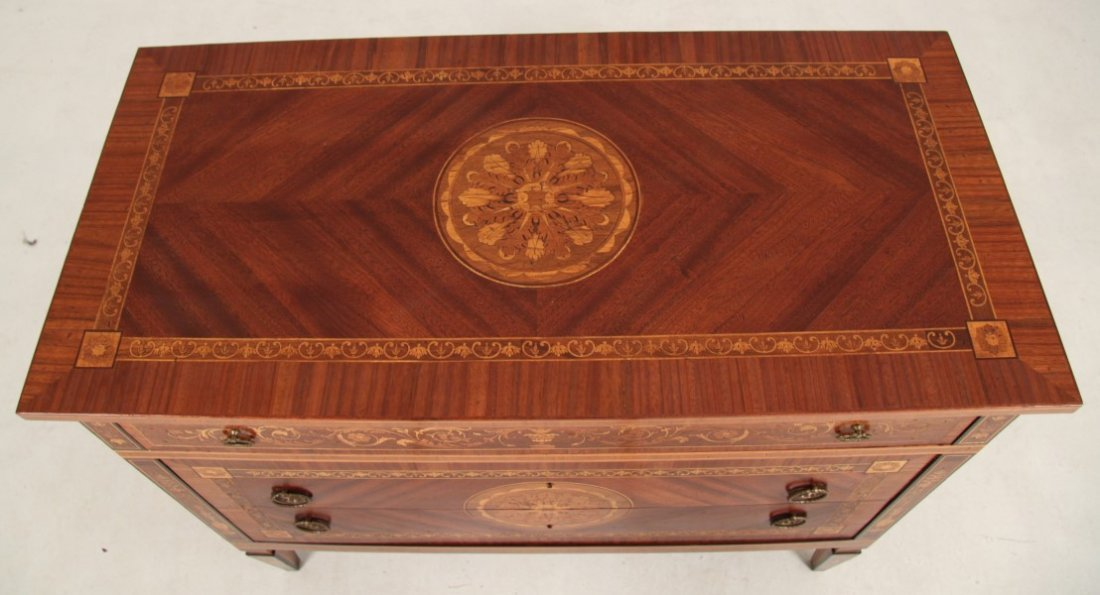 ITALIAN FINE MARQUETRY INLAID MAHOGANY AND ROSEWOOD - 3