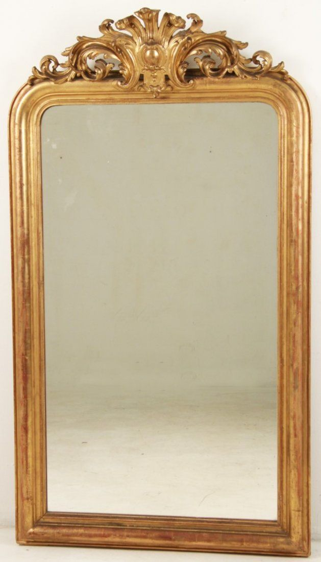 19TH C. FRENCH CARVED GILTWOOD MIRROR
