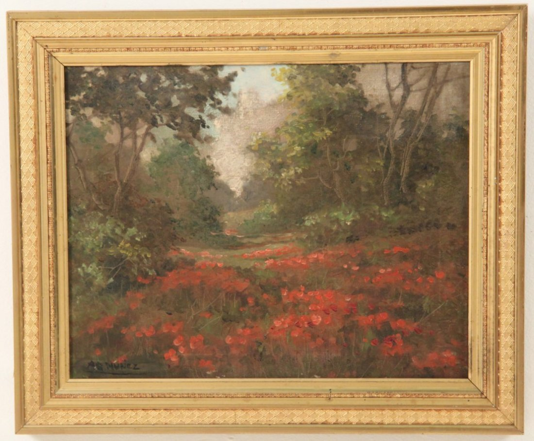 FRAMED OIL ON CANVAS LANDSCAPE PAINTING - 2