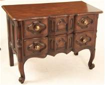 PROVINCIAL LOUIS XV STYLE WALNUT COMMODE BY BAKER