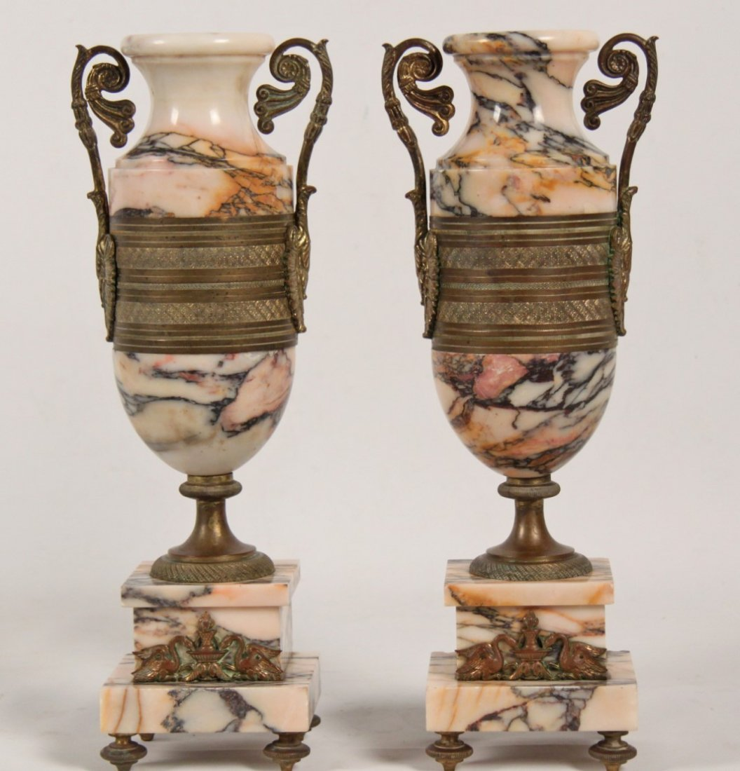 PAIR OF FRENCH RESTORATION STYLE GILT BRONZE MOUNTED