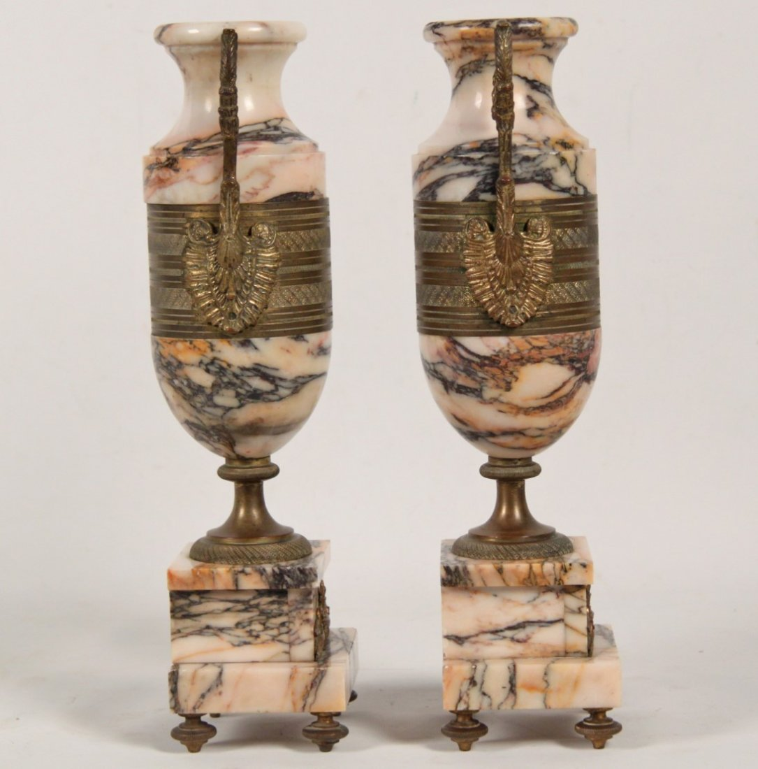 PAIR OF FRENCH RESTORATION STYLE GILT BRONZE MOUNTED - 2