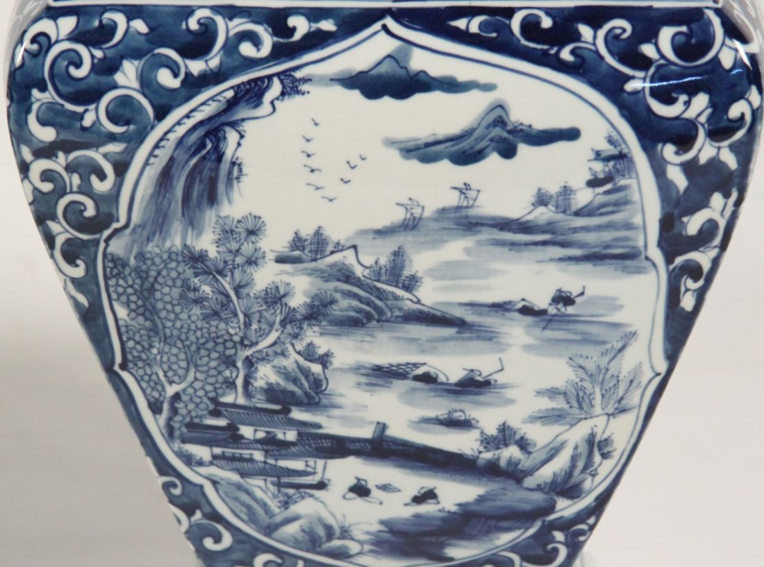 2 PIECE MISCELLANEOUS LOT OF CHINESE BLUE AND WHITE - 3
