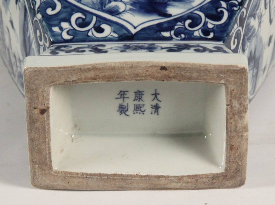 2 PIECE MISCELLANEOUS LOT OF CHINESE BLUE AND WHITE - 4