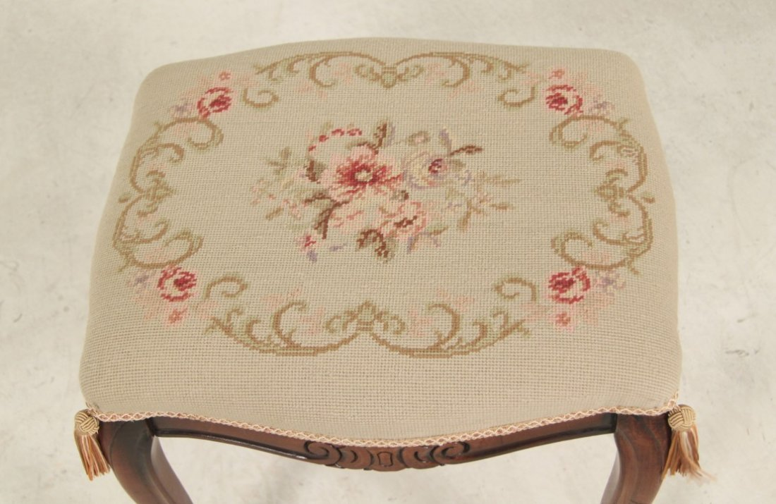 GROUP OF 2 LOUIS XV STYLE PROVINCIAL NEEDLEPOINT - 3