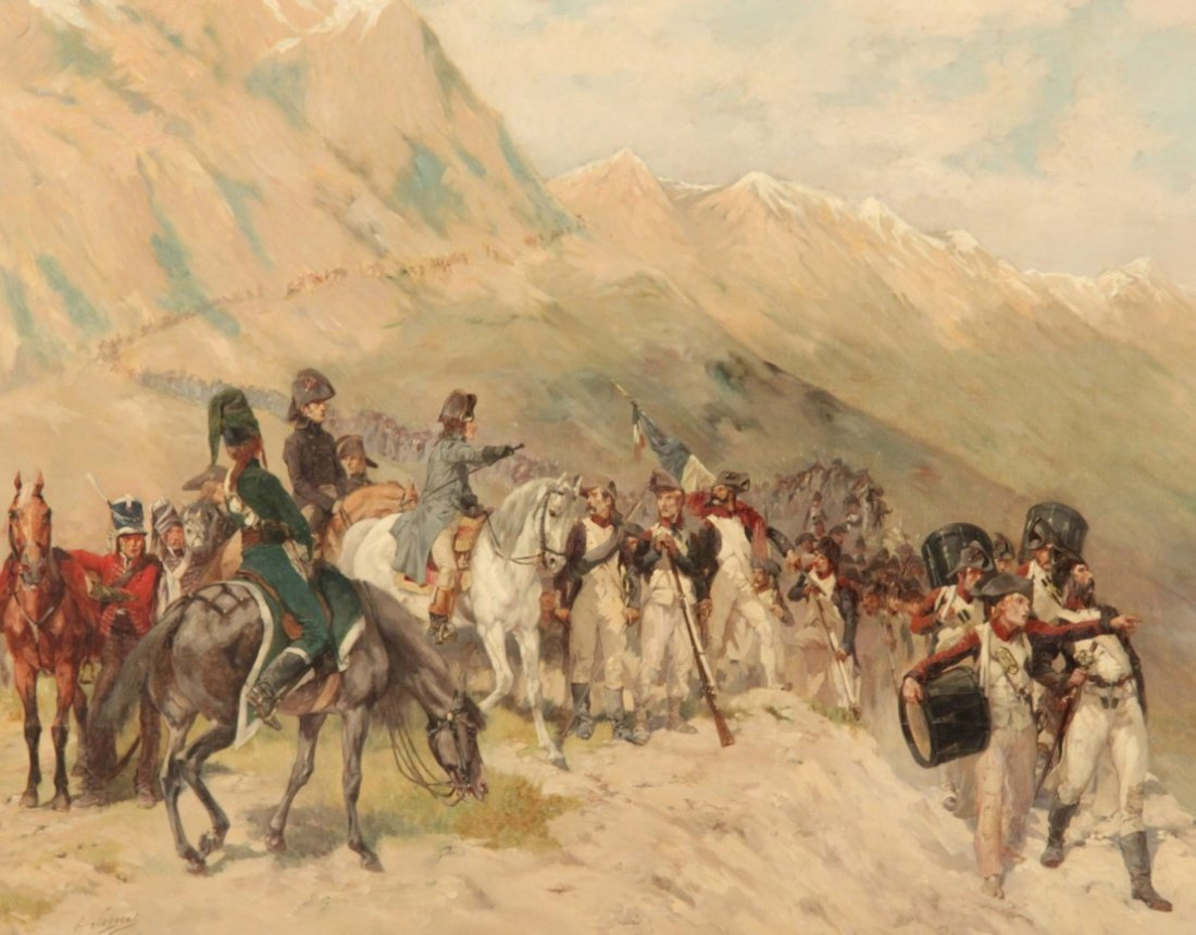 LUCIEN PIERRE SERGENT(1849-1904) 19TH C. OIL ON CANVAS