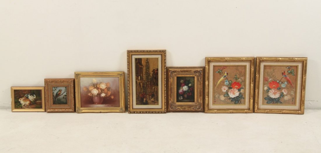 7 PIECE MISCELLANEOUS LOT OF DECORATIVE FRAMED WALL ART