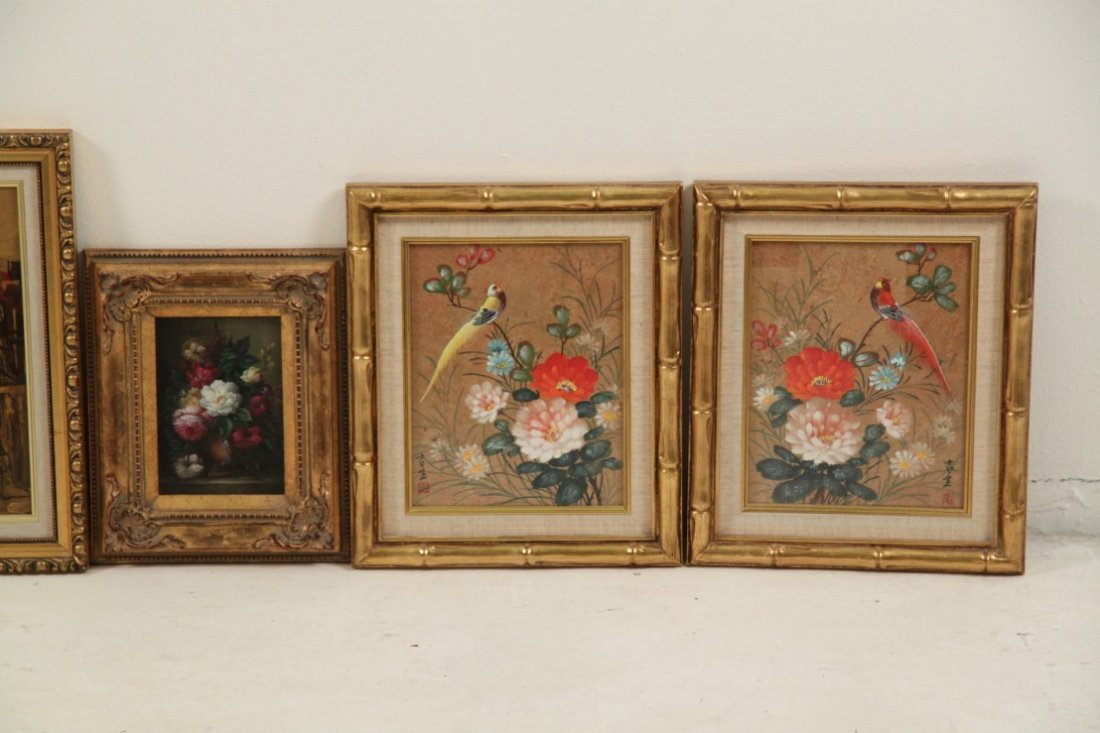7 PIECE MISCELLANEOUS LOT OF DECORATIVE FRAMED WALL ART - 2