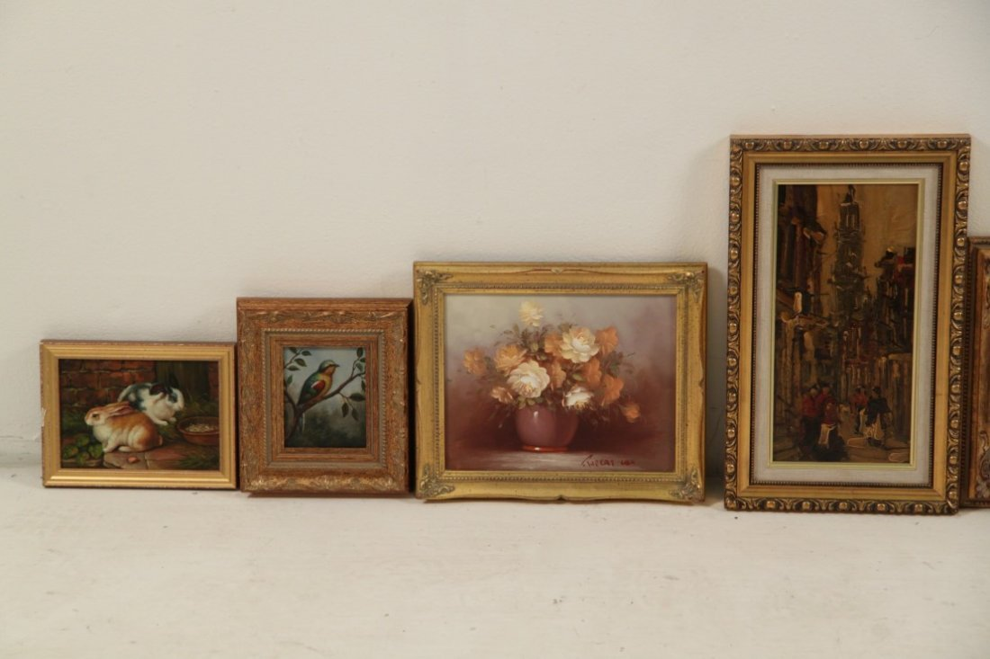 7 PIECE MISCELLANEOUS LOT OF DECORATIVE FRAMED WALL ART - 3