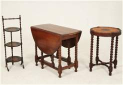 4 PIECE MISCELLANEOUS LOT OF ENGLISH CARVED OAK