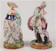 PR OF FRENCH CHANTILLY BISQUE FIGURINES