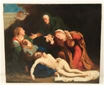 19TH C OC PAINTING LAMENTATION OF CHRIST
