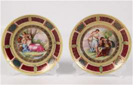 PAIR OF ROYAL VIENNA CABINET PLATES