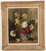 FREDA BLOIS ENGLISH OIL ON CANVASBOARD PAINTING