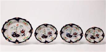 GROUP OF 4 ENGLISH IRONSTONE PLATTERS