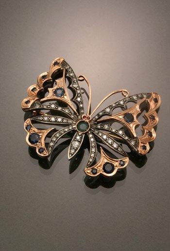6: Russian Style 14-Karat Rose Gold, Silver, Diamond, B
