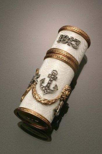 20: Russian Style 14-Karat Yellow Gold, Silver, Diamond