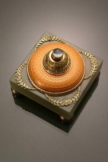 24: Russian Style 14-Karat Yellow Gold, Diamond, Moonst