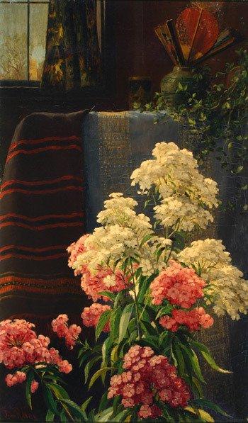 637: John Ross Key (American 1837-1920), Interior Scene