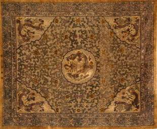 Imperial Chinese Gilt Metallic Thread Embroidered