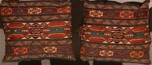 Pair of Sumac Bagface Pillows Early 20th Century