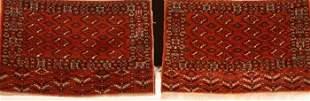 Two Similar Yomud Turkoman Chevals Circa 1900