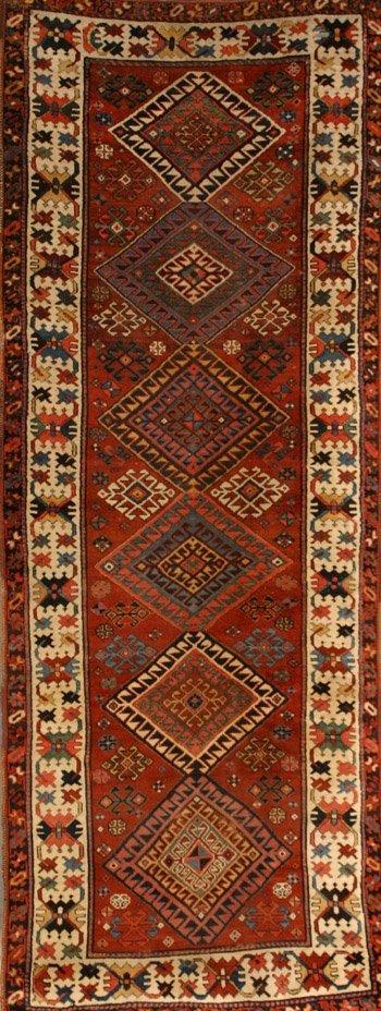 1017: Kazak Corridor Rug First Quarter 20th Century 10