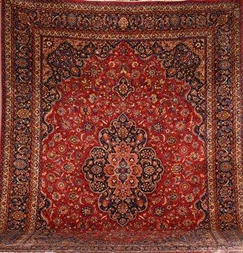 1021: Keshan Rug Post 1950 15 ft 11 in x 11 ft 6 in (48