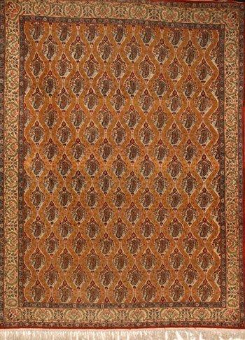1023: Tabriz Rug Post 1950 10 ft 4 in x 7 ft 9 in (315