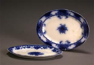 Flow Blue Alfred Meakin 'Kelvin' Platter and a W. &