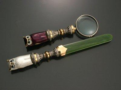 1013: Russian Style 14-Karat Yellow-Gold, Silver, Diamo