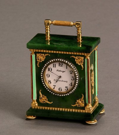1015: Russian Style Gilt Silver, Enamel and Nephrite Ja