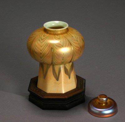 1560: Tiffany Gold Favrile Glass Shade 1892-1928