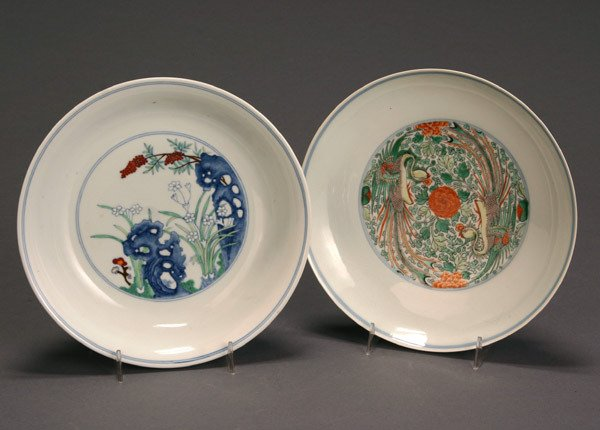 2: Two Chinese Doucai-Type Porcelain Dishes Post 1950