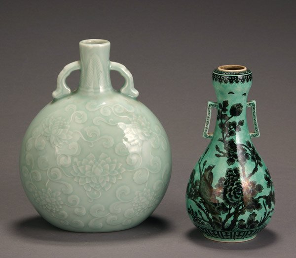 12: Two Chinese Ceramic Vases Post 1950