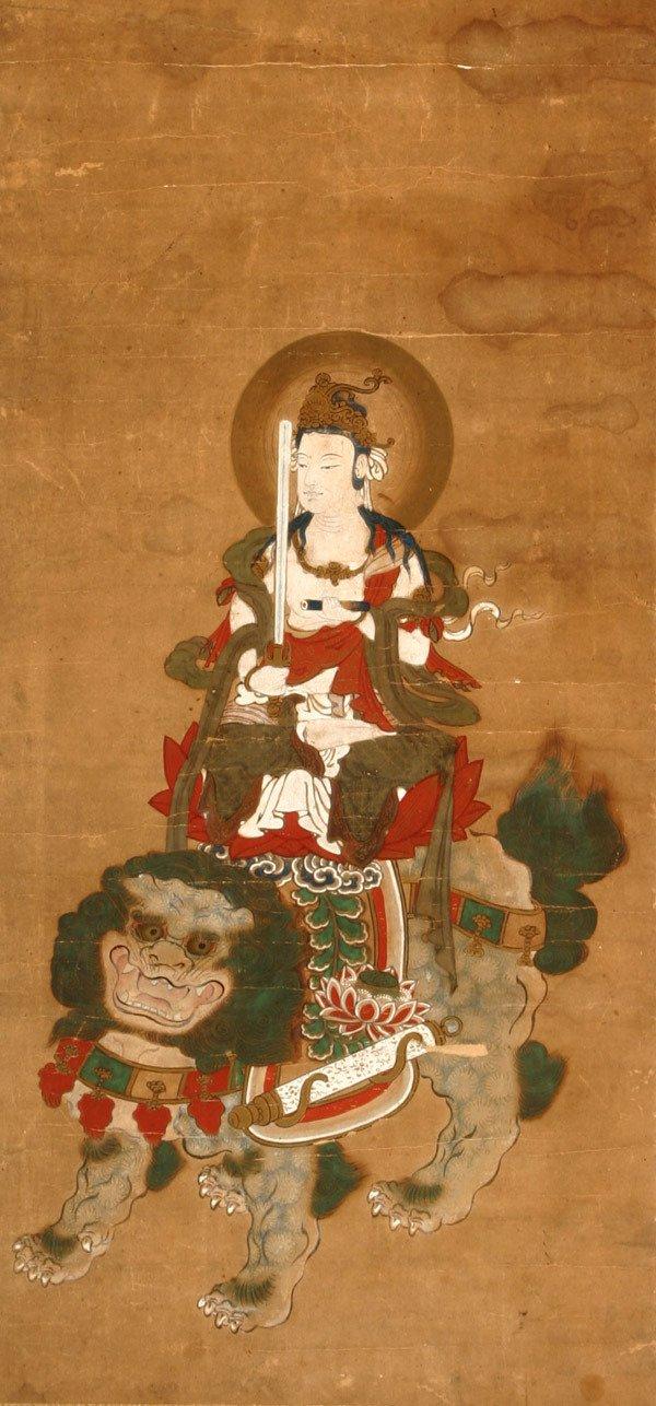 206: Japanese School, Edo Period (1600-1868) Kannon Rid