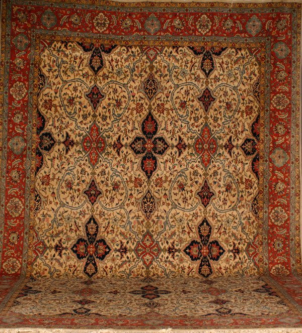 301: Tabriz Rug Post 1950 18 ft 5 in x 12 ft 1 in (561