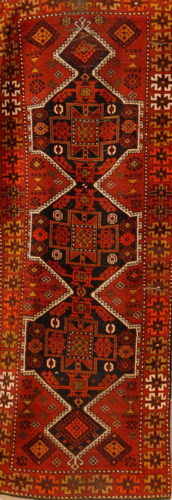 301A: Caucasian Rug Second Quarter 20th Century 9 ft x