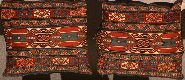 304: Pair of Sumac Bagface Pillows Early 20th Century