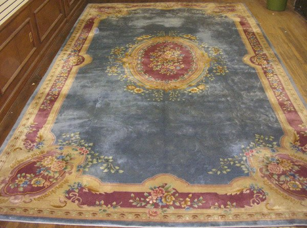 309: Chinese Aubusson Pattern Rug Post 1950 18 ft x 12
