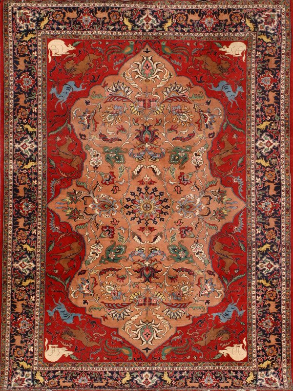 310: Tabriz Rug Post 1950 11 ft 5 in x 8 ft 2 in (348 x
