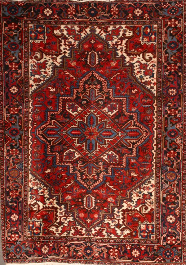 312: Heriz Rug Post 1950 8 ft 8 in x 6 ft 5 in (264 x 1